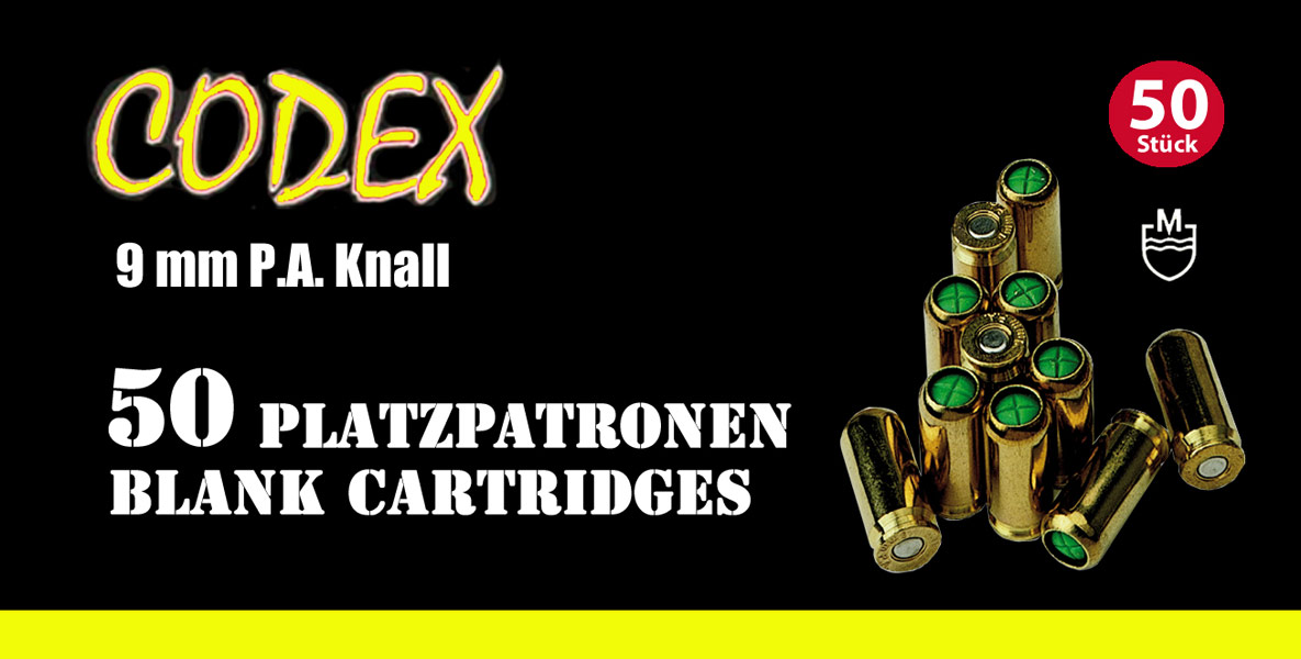 CODEX 9mm PAK Blank Cartridges - Blank cartridges - AKAH