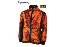 BROWNING Powerfleece Reversible Jacket Blaze Orange Camo/green